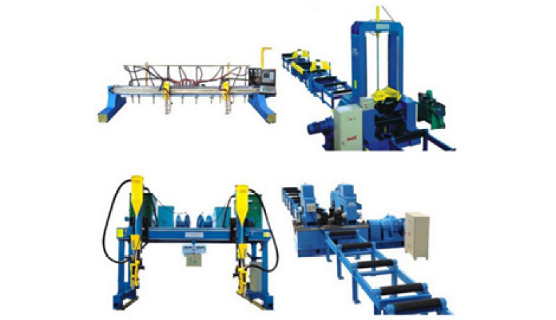 What is H beam welding line? What machines does this production line contain?
